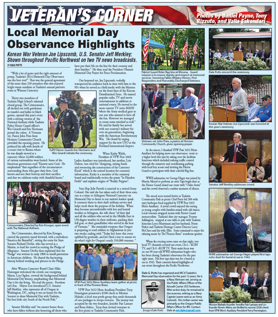 Local Memorial Day Observance Highlights