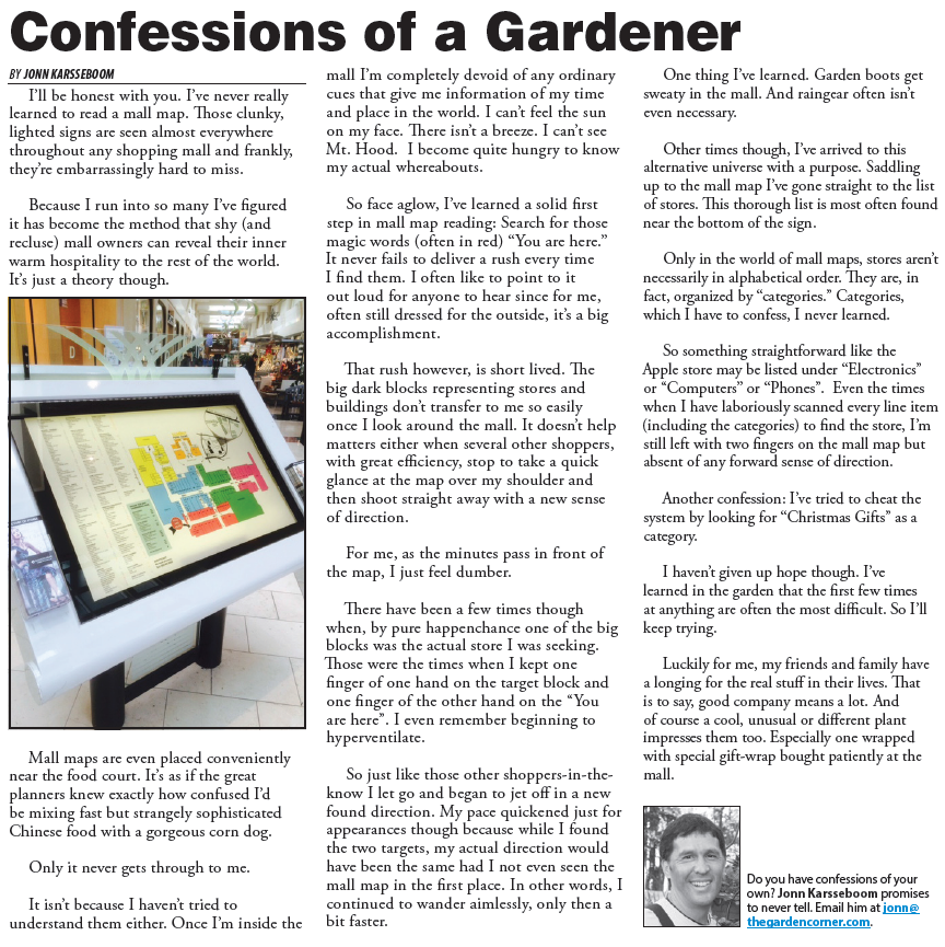 Confessions of a gardner
