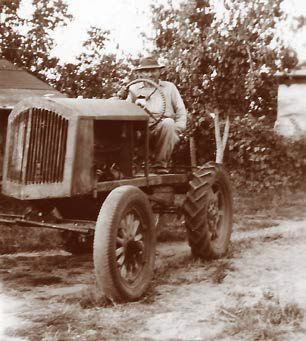 Grandpa Slawik on his tractor