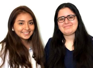 Tualatin Rotary Club Scholarship winners Ines I. Venegas, Class of 2019 (left) and Rosol H. Mikail, Class of 2018.