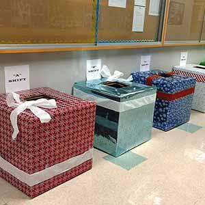 Donation Boxes at JAE