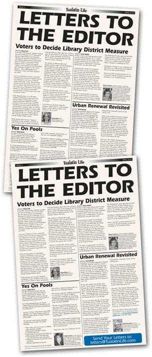 submit a letter to Tualatin Life