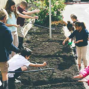 Students of MITCH in Tualatin applying their soil and water knowledge