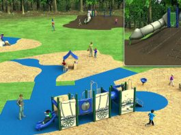 Rendering of planned improvements at Ibach Park