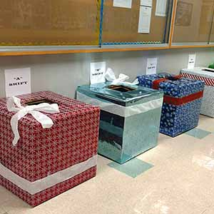 Donation Boxes at JAE
