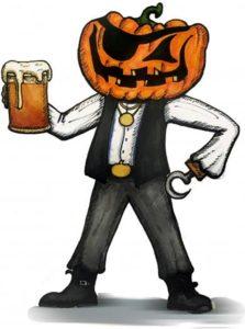 pumpkins and pints standing