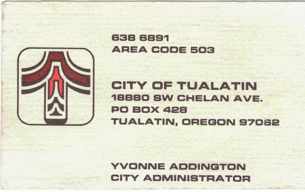 An early usage of the logo on the author's business card.