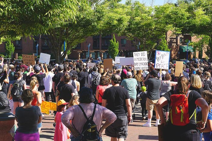 June 2 Tualatin BLM Protest. Tualatin Life file photo.