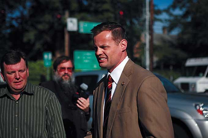Dale Lembke and State Representative Scott Brunn.