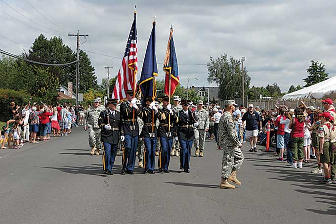 """Photos are from the last """"Home Again Parade"""" August 2007."""