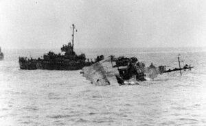 USS William D. Porter sinking.