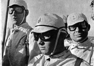 Tora, Tora, Tora - Yorktown flight deck crew wore WWII  Japanese Navy uniforms.